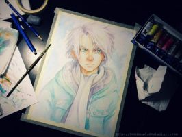 FANART - Hitsugaya - freshly painted by oomizuao