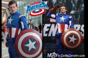 Captain America Cosplay by CastleCorsetry