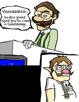Office Space Mario by JoeyIsBetterThanDA