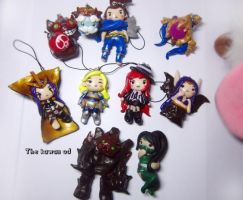 League of legends charms by Thekawaiiod