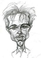 Brad Pitt sketch by kgreene