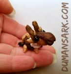 Aksel the Micro Reindeer Animal Totem Sculpture by DumansArk