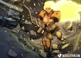 Yang's Semblance Overload by female-muscle-comics