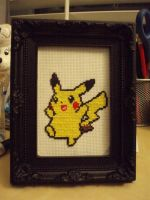 Cross stitched Pikachu by micadjems