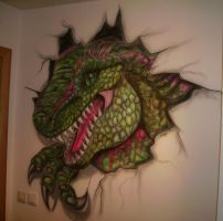 Dinosaur Airbrush Art 2 by Sturmblut