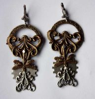 Dragonflies steampunk earrings II by Pinkabsinthe