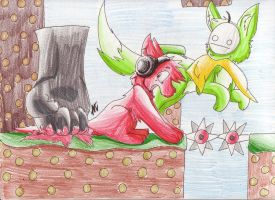 .:Pewdie and Cry Play Bloody Trapland:. by AzureDreamrealm