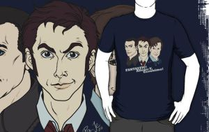 DW T-shirt Design - New Who Doctors by ScarletMoonbeam