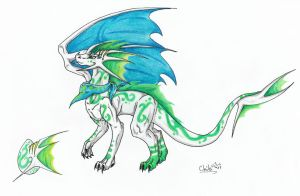 white-green tribal adoptable egg form pack#2 by ChibiMieze