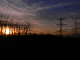 Tension Line Sunset: 01 by TropicalxLondon