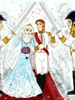 Prince Hans and Queen Elsa - Wedding by lisuli79