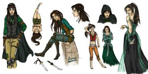 Sketch sheet - Kindriah by Aellcee