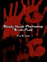 Bloody Hand Prints Brush Pack by Zeds-Stock