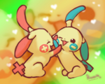 Minun Plusle Love by hinoraito