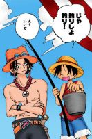 Luffy and Ace by Sprky2008