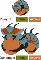 Rolly Polly Fakemon by KingsTailor