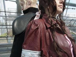 Aerith and Cloud by Kinneya-Strife