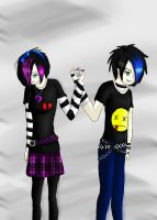 Emo couple -request- by Blackheartprincess