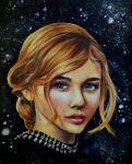 Among Stars- portrait painting practice by PrehistoricGiraffe
