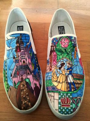 Beauty and the Beast - shoes by neverinmyfoot