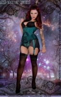 Miss Martini Corsets webpage cover girl by MissMartiniCorsets