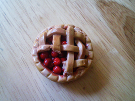 Tiny Clay Cherry Pie by Mari-Kyomo