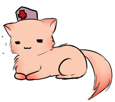 NurseCap kitty by DrMuffinsandTea