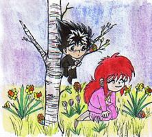 YYH: Springtime by youkobutt