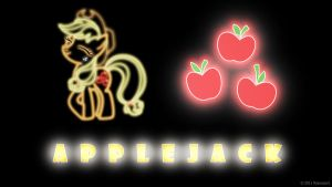 Applejack Glow Wallpaper by nsaiuvqart