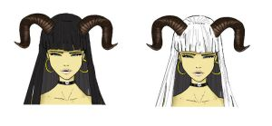 pretty girls with horns by cury