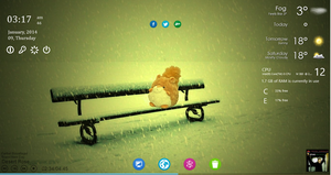 Simpli 1 - Rainmeter Skin by nothanks91