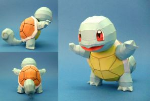Papercraft Squirtle by squeezycheesecake