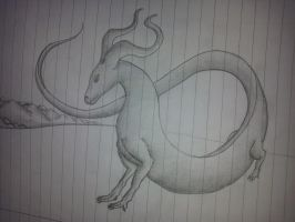 Dragon (test drawing) by bysanlul