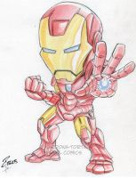 Convention Watercolor Iron Man by dekarogue