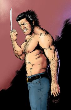 Wolverine's finger colored by robbyv