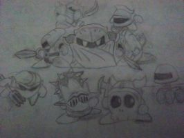 Meta Knight's Crew by embercoral