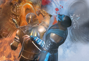 Scorpion VS Sub-Zero - MK 9 by Khaluow