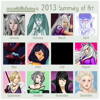 2013 Summary of Art by noquietinhere