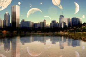 City Space Landscape by NewTo2k8