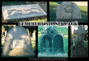 Cemetery Stones Stock Pack by twitchhugstrees