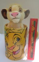 Disney Store Simba Mug w/ Plush 2012 by kawaiisimba