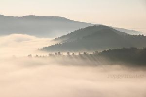 Mountain clouds by PoppyHunter