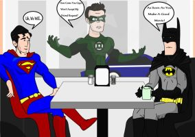 Green Lantern At The Super Cafe by Dylan-G