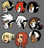 Web Comic Ladies by angieness