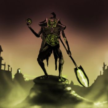 15. Silence - Necron Lord by Tiwyll