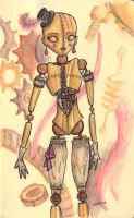 Clockwork Doll by toasterb0t