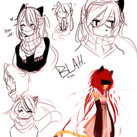 Wow Idk just lame mocha doodles. by Natsuki12