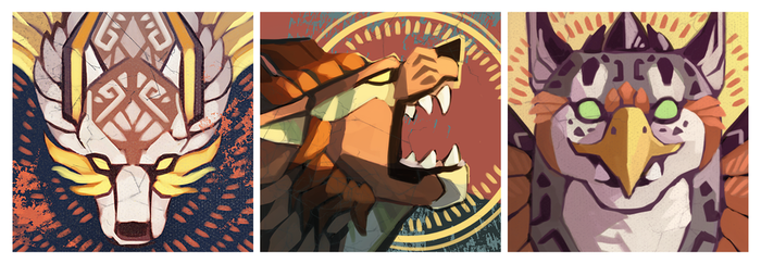 Trio of Icons by rosiesinner