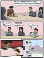 Boardroom Suggestion Meme Advertisements by CHL99