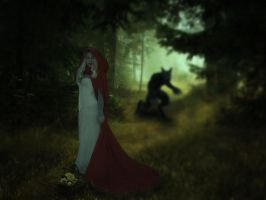 Little Red Riding Hood And The Wolf.. by Alz-Stock-and-Art